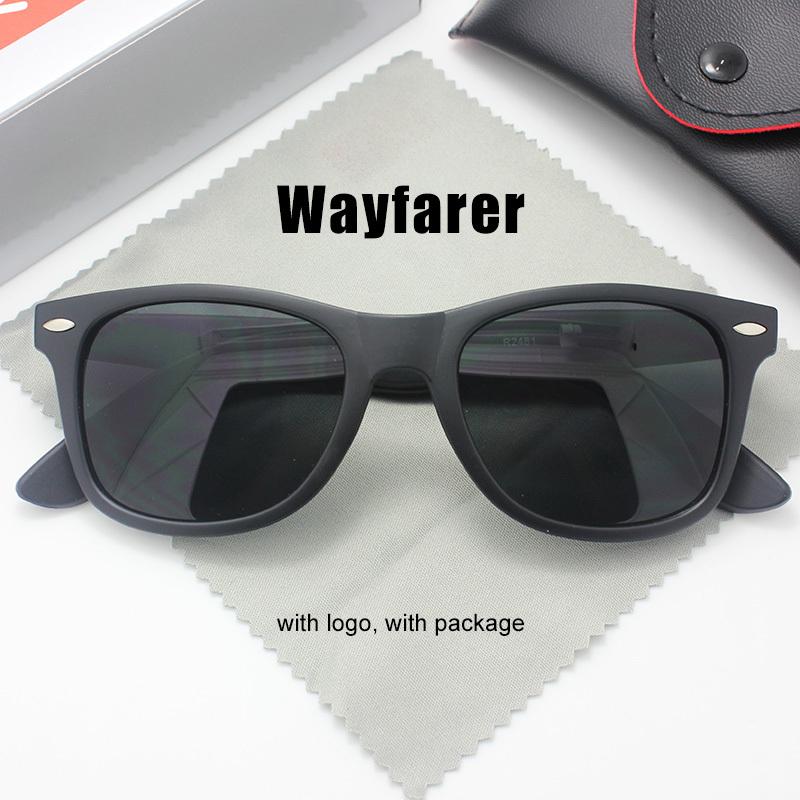 Wayfarer Sunglasses with original box Brand Designer Sun glasses with logo Men Women Unisex Fashion Eyewear rb 2140(China (Mainland))