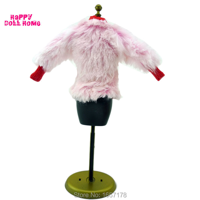 Vogue Winter Put on Fur Coat Woman Jacket Equipment Garments For Barbie Doll Child Play Home Toy Present