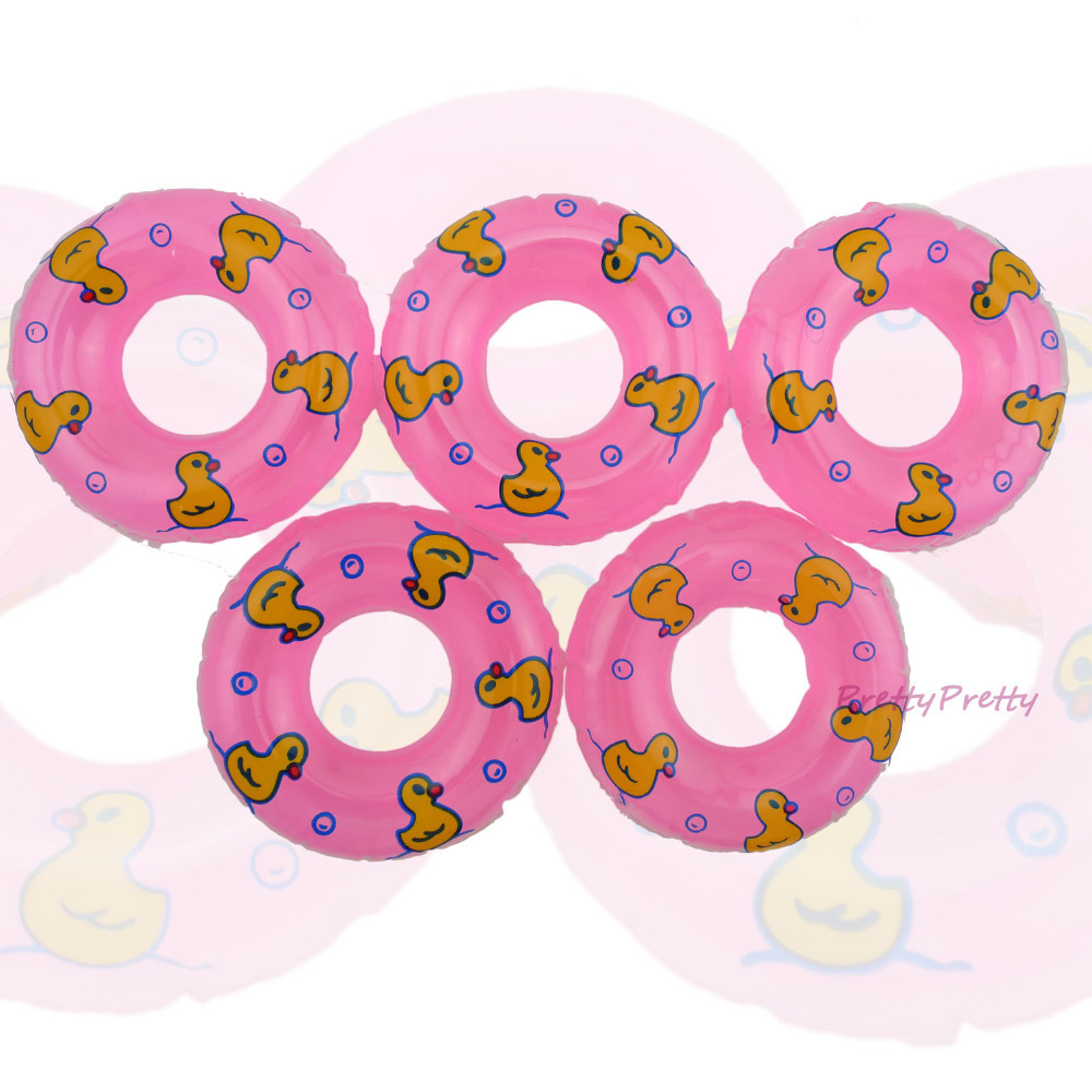Wholesale Free Shipping 25 Pcs Pink Swimming Buoy Lifebelt Ring For 1:6 Barbie Doll Accessories Swimming laps Baby Toys(China (Mainland))