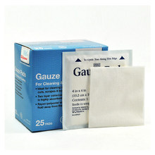 Free Shipping 25 Pcs 10.2cm*10.2cm Medical Wound Dressing Gauze Pad Cotton First Aid Sterile Gauze Pads For Cleaning Covering(China (Mainland))