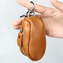 Key Holder Genuine Cow Leather Key Case Zipped Key Pouch Keychain Auto Car Key Cases Bag High Quality(China (Mainland))