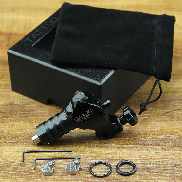 Машинка для тату Liner&Shader 4 pcs liner shader tattoo rotary motor gun machine kit set swashdrive