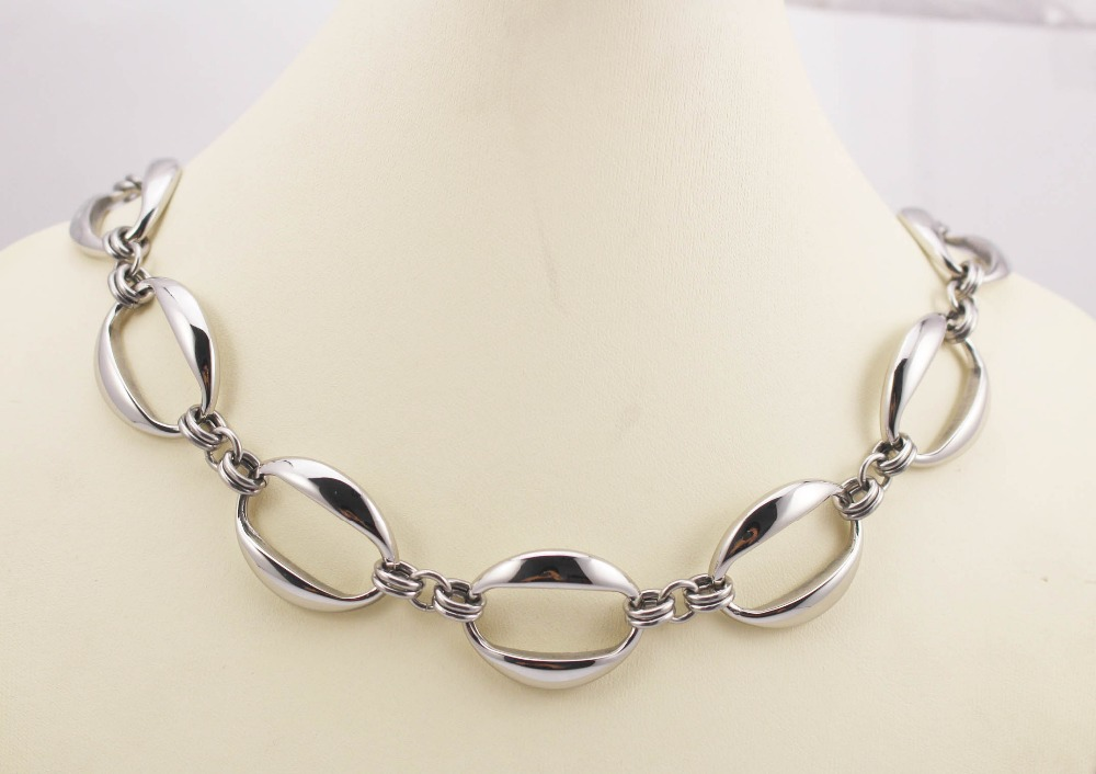 stainless steel jewelry silver necklace for women free shipping