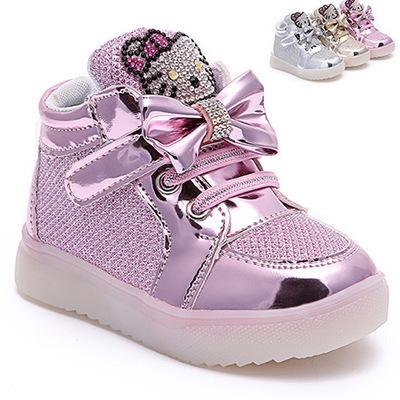 2016 новый 1-5 лет мода мультфильм обувь детская девушки свет обувь дети кроссовки ...