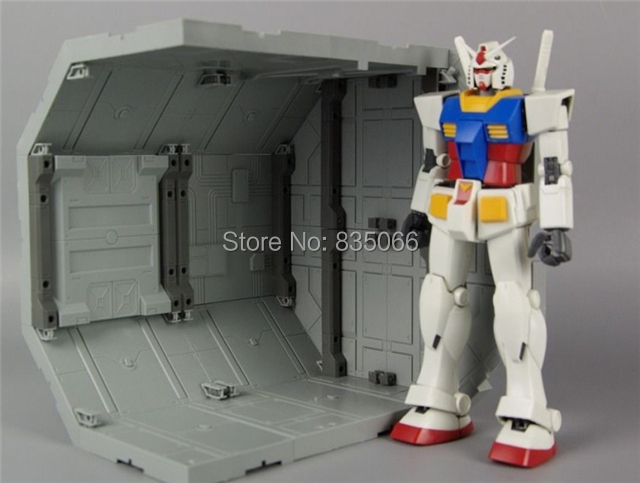 Japanese Gundam scenario building Mechanical chain base robot Multifunction Universe warehouse Display stand action figure(China (Mainland))