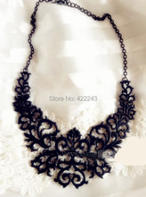 Black&Gold&Silver Hollow Carved Design Metallic Choker Neckalce For Women Statement Vintage Pendants Necklace Collier Femme(China (Mainland))