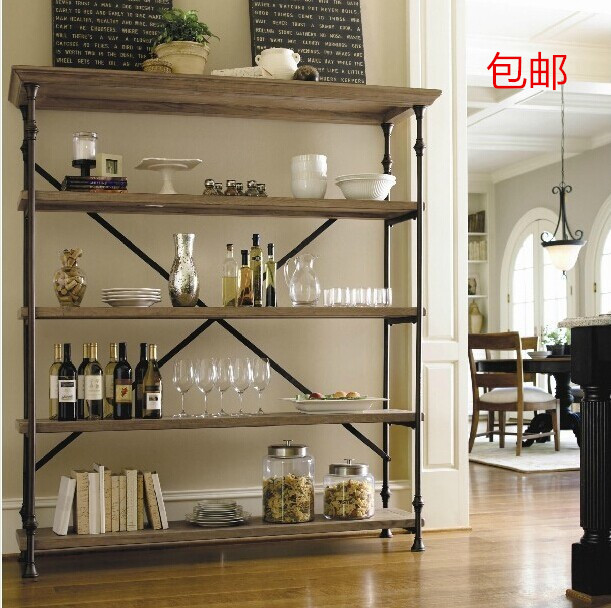 wood bookcase industrial LOFT style retro to do the old wrought iron ...