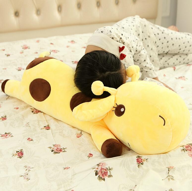 1pc Plush Lie Giraffe Pillow Staffed Deer Plush Toy Nap Pillow Christmas Gift High Quality(China (Mainland))