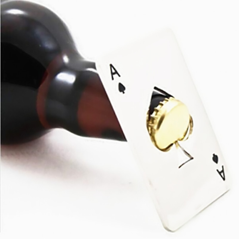 The latest popular poker game card sales 1 Taiwan spades toolbar soda beer bottle opener as gifts(China (Mainland))