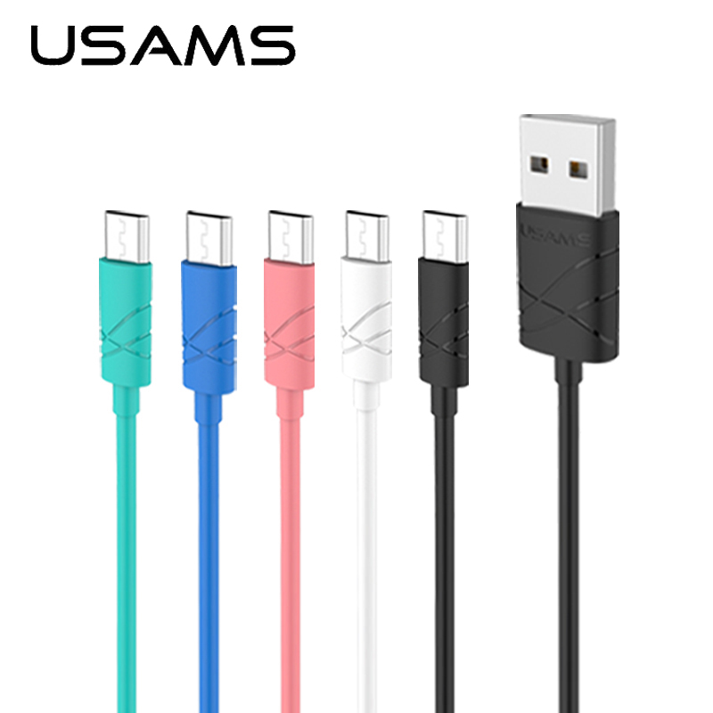 USAMS Micro USB Cable 1m 2A Fast Charging Mobile Phone Android Cable USB Charger Date Sync Cable Wire for Samsung HTC LG(China (Mainland))