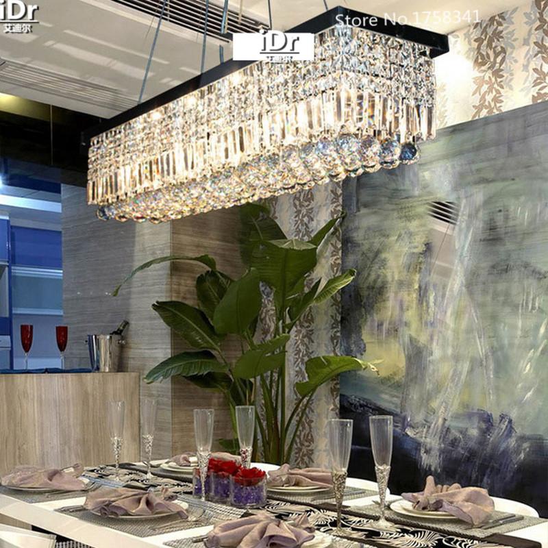 Length 1500mm NEW Modern Crystal Chandelier for dining room Rectangle ...