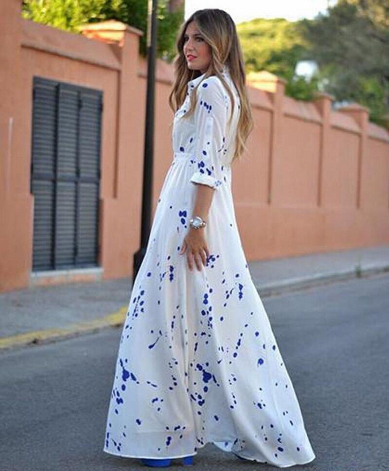 Платье в пол на лето 2017