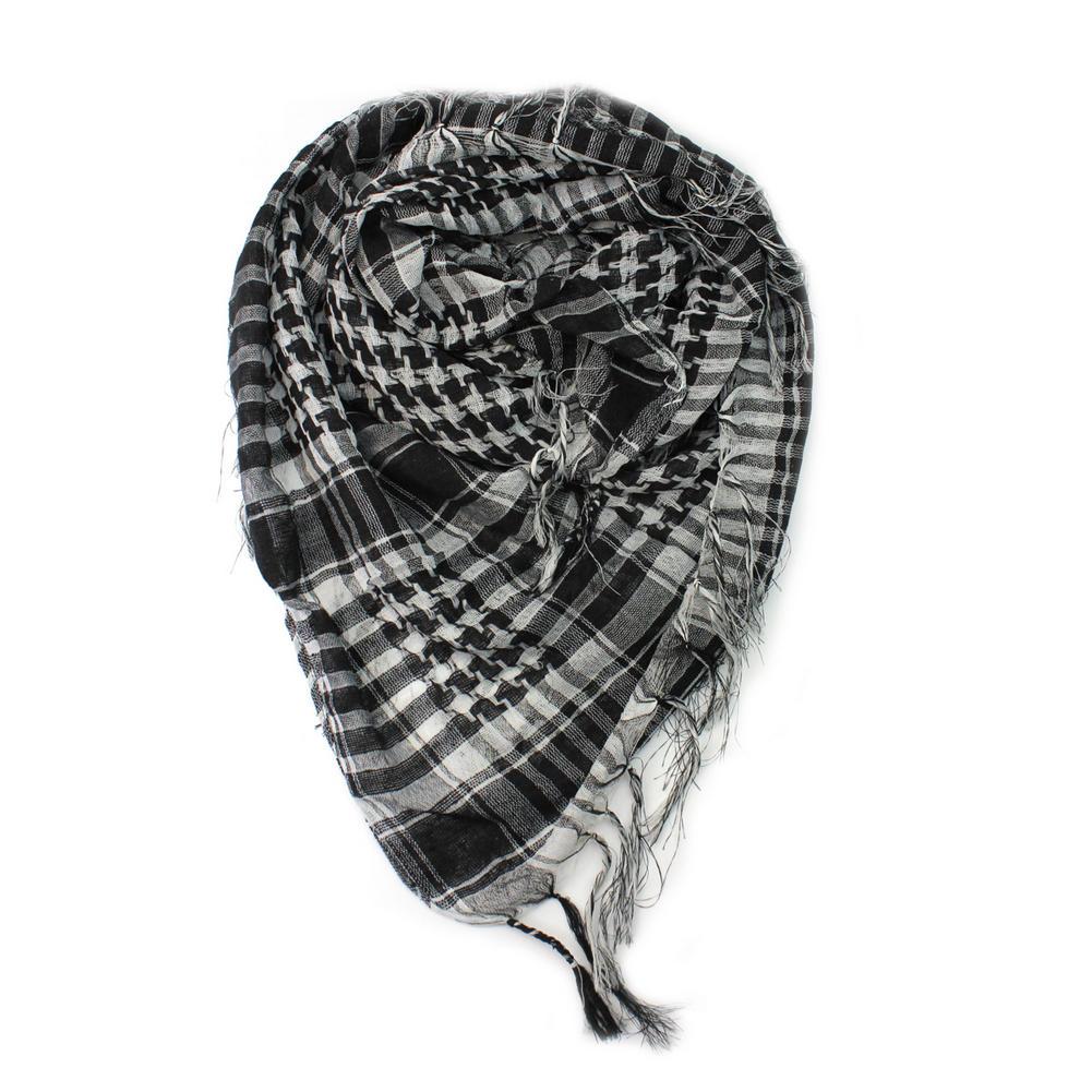 Black White Plaid Cotton Women Men Arab Scarf Shawl Shemagh font b Chequered b font Warm
