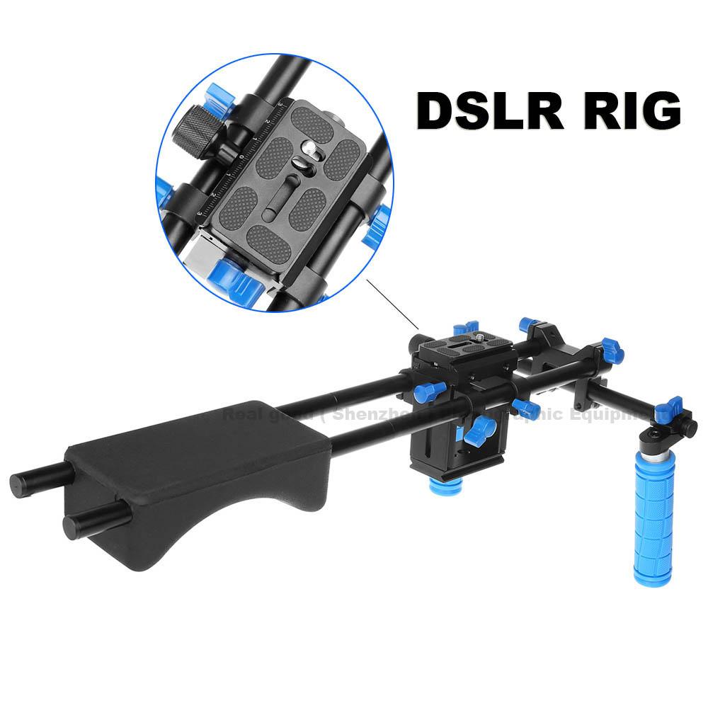 Здесь можно купить  New Professional DSLR Rig Dual Handle Shoulder Mount Rig Video DV Accessories For Canon 5D2 5D3 7D 70D 60D 5D Mark III D810 D610  Бытовая электроника