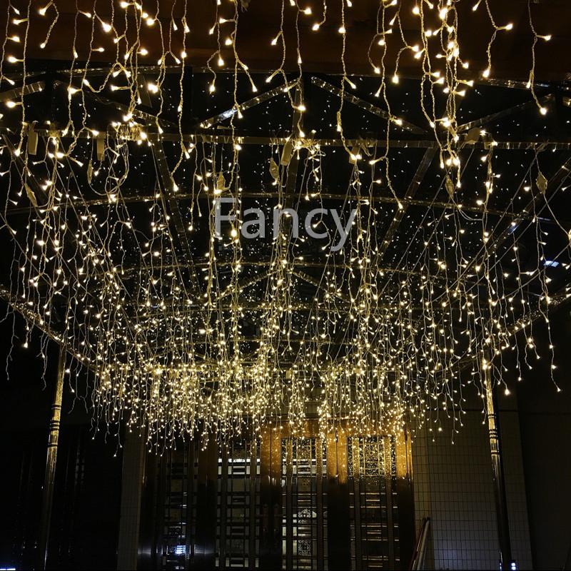 3.5M 96 LED Icicle Christmas Holiday Light 9.4ft LED Snowing curtain light Xmas Wedding Party Decoration(China (Mainland))
