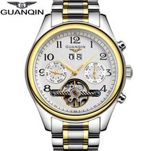 High Quality GUANQIN Tourbillon Men Watches Top Brand Luxury Sapphire Waterproof Watches Men Automatic Mechanical Wrist Watches