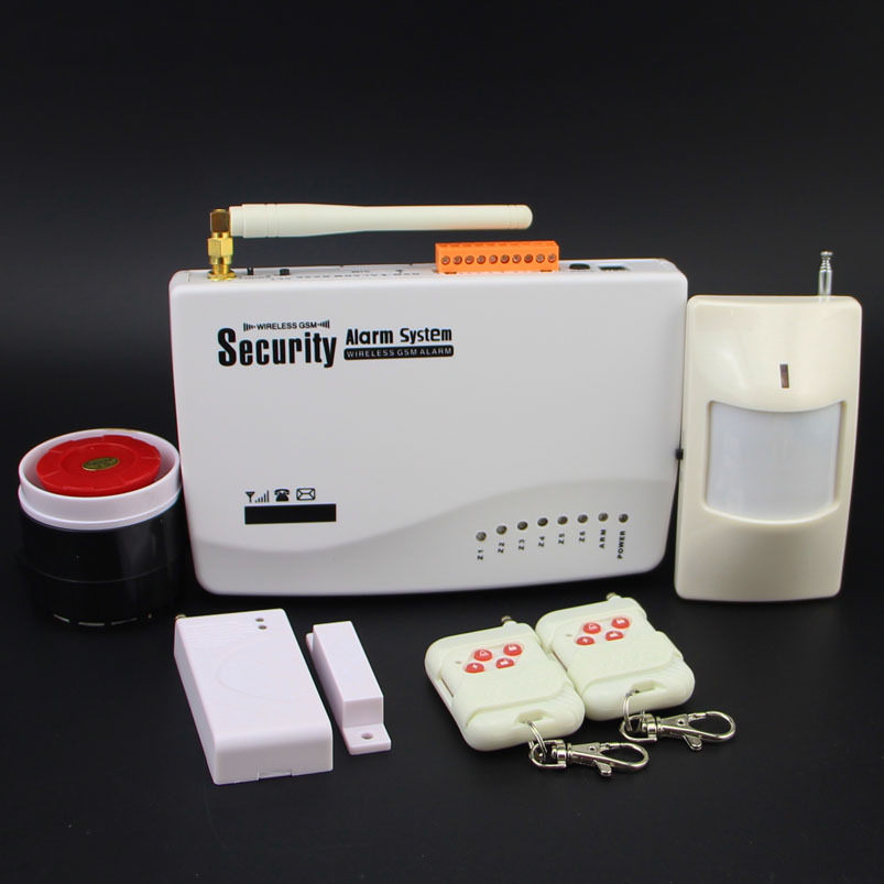 free shipping Intercom home security wireless GSM alarm system 2 year warranty 900/1800/1900MHZ with russian,english voice(China (Mainland))