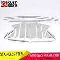 KUST Newest Version Stainless Steel Car Window Trim Sticker For Hyundai For Tucson 2015 Window Frame