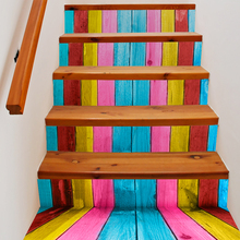 Buy 6 Pieces/Set Creative DIY 3D Stairway Stickers Color Board Pattern Room Stairs Decoration Floor Wall Sticker Staircase Decal for $19.04 in AliExpress store