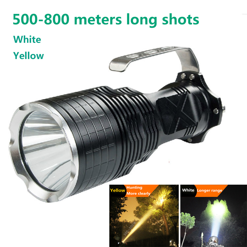 CREE LED Flashlight 5000 lumens L2 White Yellow 2 color options Outdoors Hunting Explore camping Search and Rescue light
