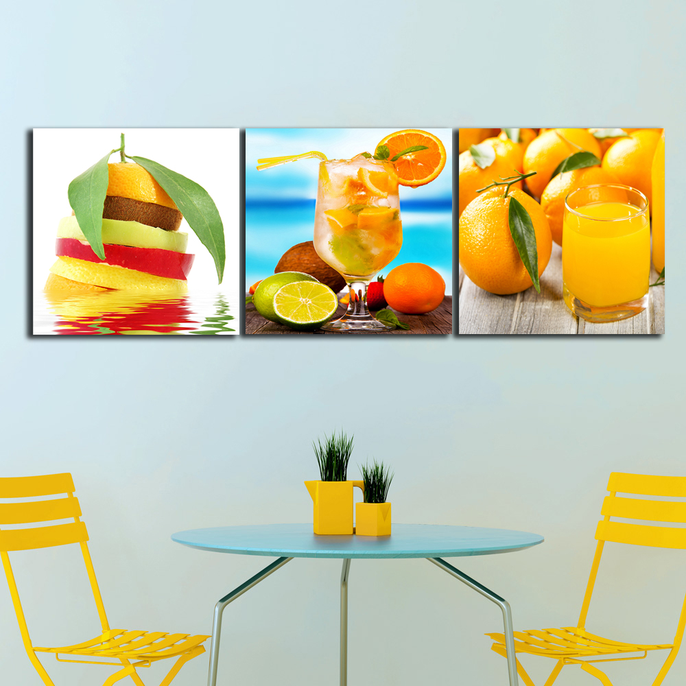 Pinturas de color naranja compra lotes baratos de - Cuadros para cocinas modernas ...