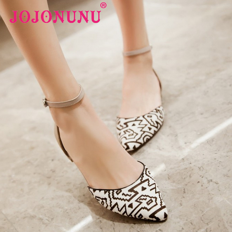 women real genuine leather pointed toe ankle strap party flat sandals brand sexy fashion heeled ladies shoes size 34-39 R6213<br><br>Aliexpress