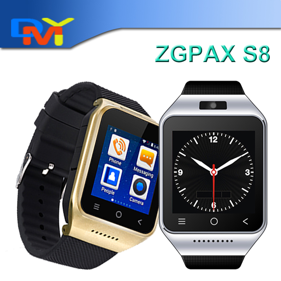ZGPAX S8 3G Smart Watch 1.54Android 4.4 MTK6572 Dual Core Smart Electronics WCDMA GSM With Email GPS WIFI Reloj Inteligente<br><br>Aliexpress