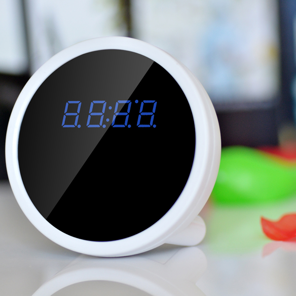 Mini Alarm Clock WIFI Camera 90 Degree ultra-wide angle Support Iphone(IOS), Android Moblie phone digital video cameras<br><br>Aliexpress