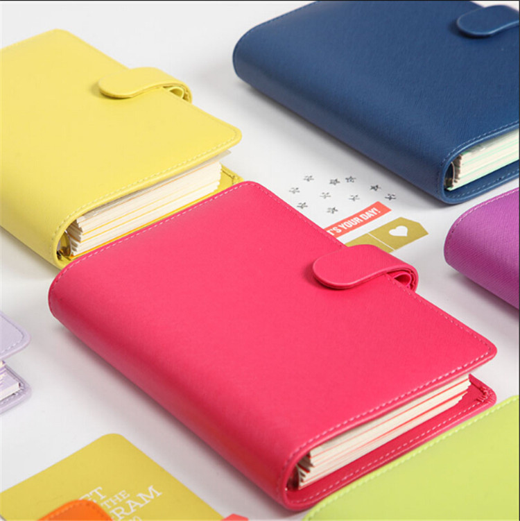 2015 New Dokibook Notebook Candy Color Cover A5 A6 Loose-Leaf Time Planner Organizer Series Personal Diary Daily Memos(China (Mainland))
