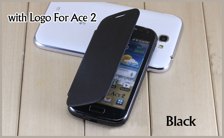 Samsung Galaxy Ace 2 i8160 original battery housing case Flip cover leather remove back screen protector - Look at the sky store