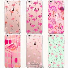 New Fashion Soft Colorful Flamingo Case Cover For iPhone 6 6S Transparent Silicone Phone Cases Fundas Capa(China (Mainland))