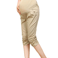 Summer Maternity Pants Comfy Gravida Clothing Knee Length Pants Pregnancy Maternity Clothes for Pregnant Women Belly