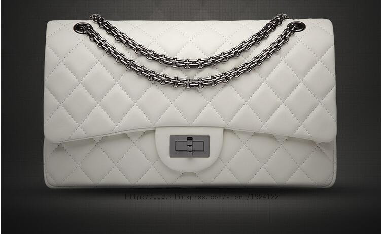 2016 new high quality 2.55 classic First Layer sheepskin female package rhombus chain bag Shoulder bag Crossbody Bags woman