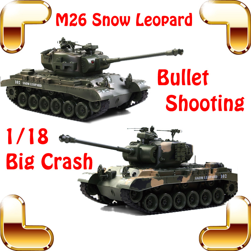 New Coming Gift COLLIDE USA M26 Shooting Tanks 18 CH 1/18 RC Huge Tank Electric Control Bullet Shoot 45 Climbing Vehicle Models(China (Mainland))