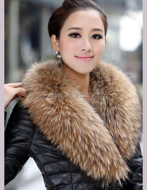 FS037 20*90 см Большой Меховой Воротник Съемный натуральный Мех Воротник Пальто Куртка