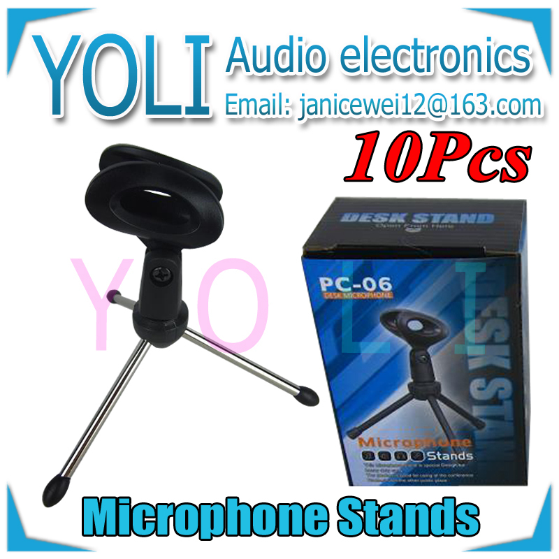English Retail Box !! Wholesale 10Pcs/lot Desktop Tripod Microphone Stands Plastic Mic Desk Stand For SM57 SM58 Beta58A Beta87A(China (Mainland))