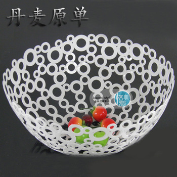 Fruit plate stainless steel circle shuiguolan fruit basket circusy compotier fashion home