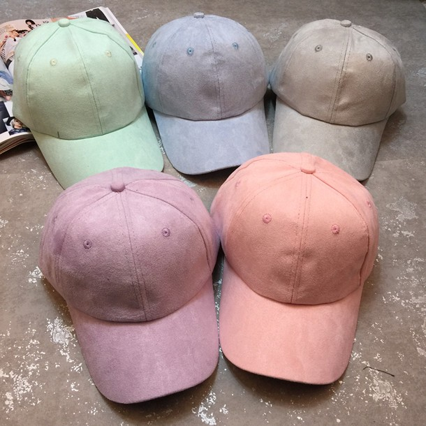 New Macaron Baseball Cap New Brand Caps Casual Sports Suede Snapback Hat Gorra Hombre Solid Cappello Hip Hop Baseball suede cap(China (Mainland))
