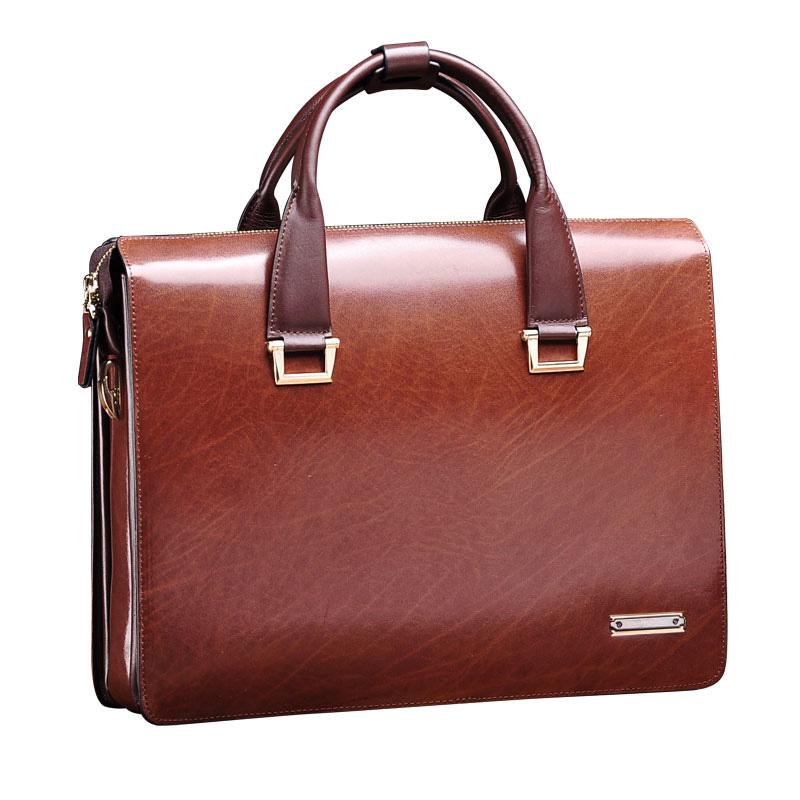 мужская из натуральной кожи Винтаж формального бизнес-адвокат портфель Messenger плечо сумка портфель атташе коричневый
