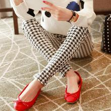 Newest 2015 Spring Autumn Women Pants & Capris Black & White Long Trousers tight Women clothes pencil pants(China (Mainland))