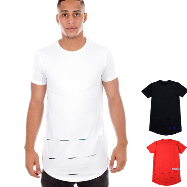 Extra long t shirts hole skateboard brand hip hop t shirt for Extra long dress shirts