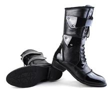 New spring autumn/winter fashion boots shoes leather tall canister boots with male the man knight punk COS joker cowboy boots