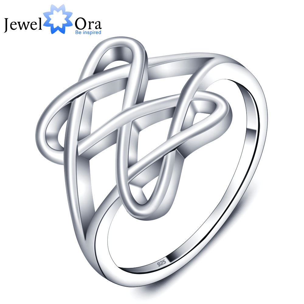 Fashion Double Heart Party  Accessories 925-Sterling-Silver Rings For Women New 2015 (JewelOra RI101726)<br><br>Aliexpress