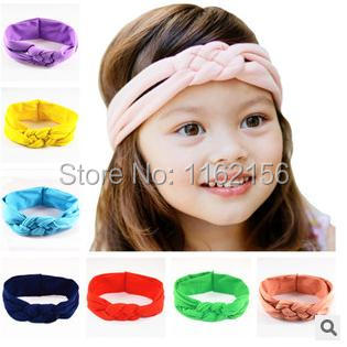 2015 Baby Knot Headbands Baby Head wraps, Knit Headwraps for baby 12 colors u pick baby girls hair accessories Christmas gift(China (Mainland))