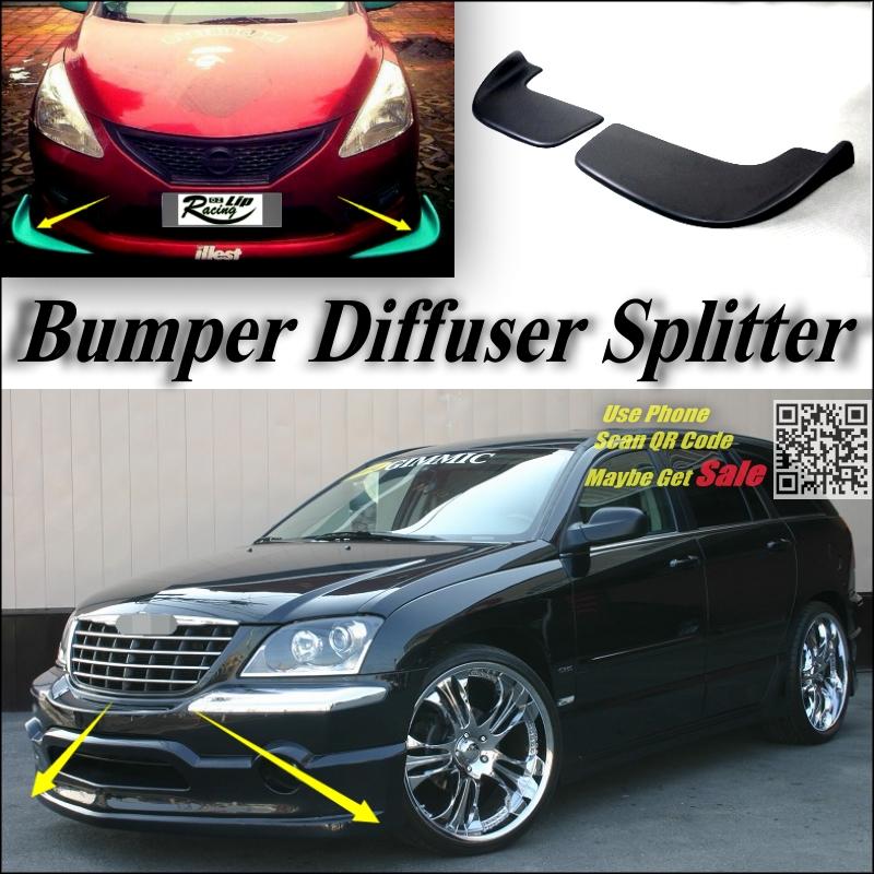 Car Splitter Diffuser Bumper Canard Lip For Chrysler Pacifica Tuning Body Kit / Front Deflector Car Reduce Body Flap Fin Chin<br><br>Aliexpress