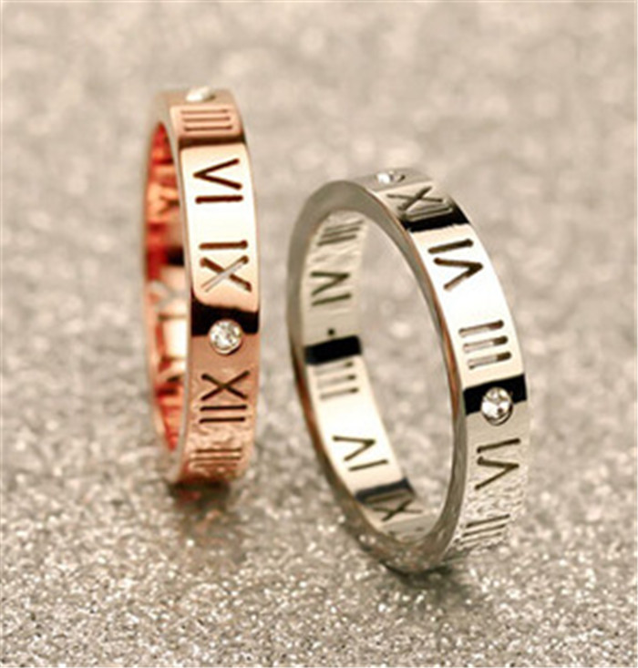 Roman Numeral Wedding Ring Roman Numerals Ring