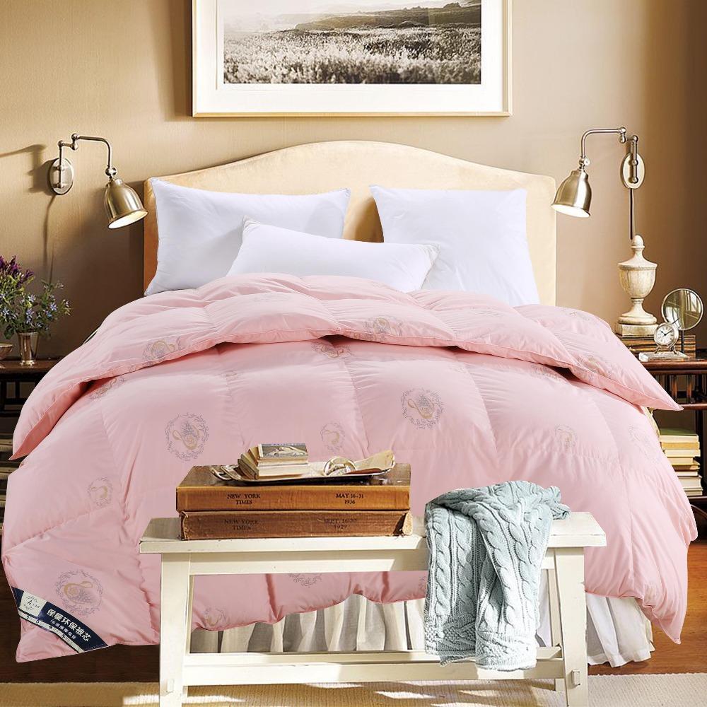 winter fake duck down comforter quilted king queen double single - Queen Down Comforter