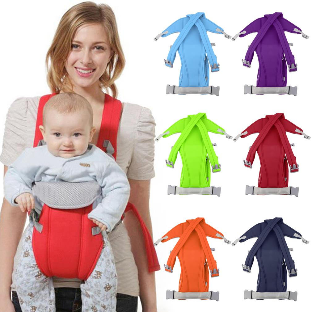 Comfortable 3-16 Month Adjustable Infant Carrier Sling Wrap Rider Backpack Front/Back Pack Soft Multiple Carrying