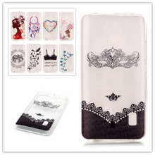 New Painting Clear Transparent Soft TPU Cover Case for huawei Y635 Soft Plasitc butterfly feather Capa Para Phone Bag