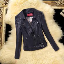 2016 Faux Leather Jacket Women Short Motorcycle Jacket Ladies Spring Leather Jacket Female Coat Leather Woman Brand Coat YM20(China (Mainland))